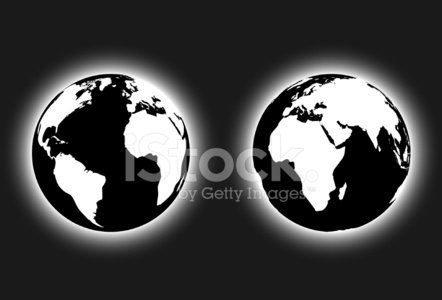 442x300 Black And White Glowing Earth Vector Stock Vectors