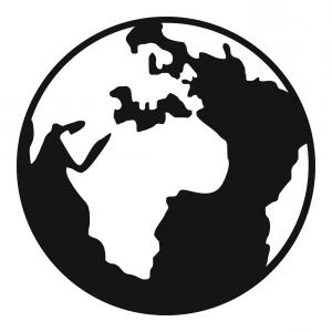 300x300 Earth Globe Icon Simple Style Vector Orangiausa