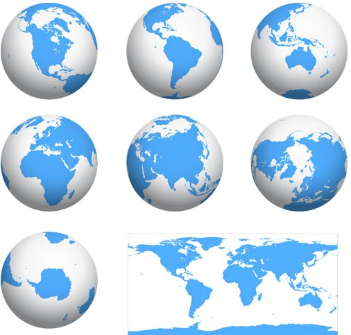 506x483 Earth Globes Vector Graphic Ai Format Free Vector Download
