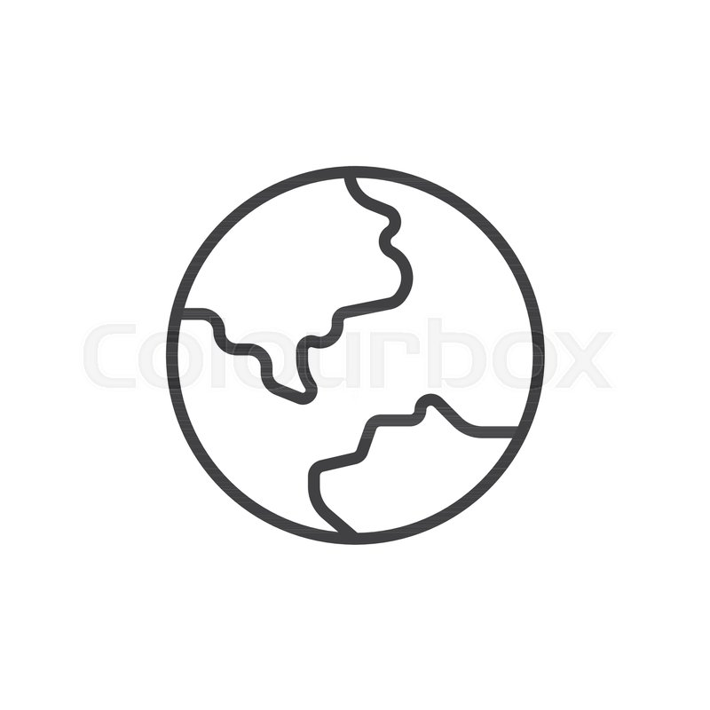800x800 Earth Planet Outline Icon. Linear Style Sign For Mobile Concept