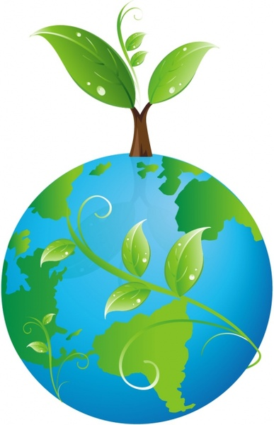 387x600 Earth With Sprouting Leaves Free Vector In Adobe Illustrator Ai