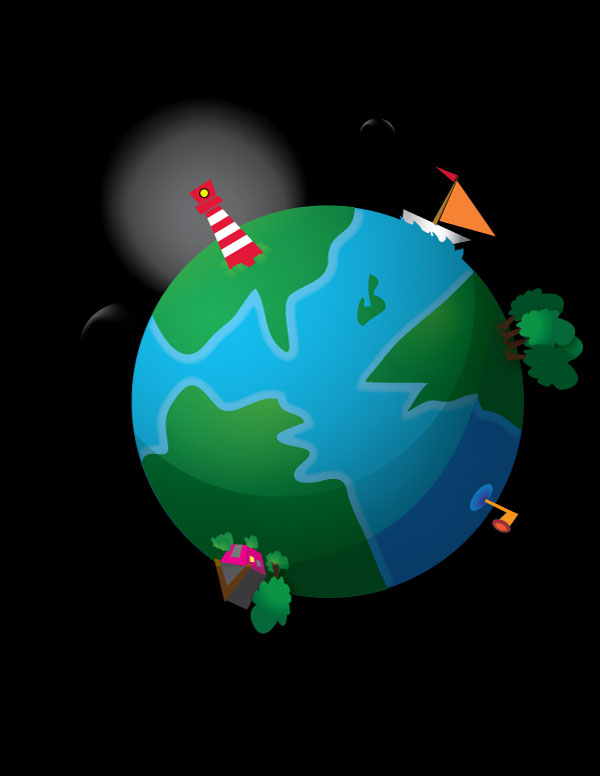 600x776 How To Create A Cute Earth Illustration In Vector