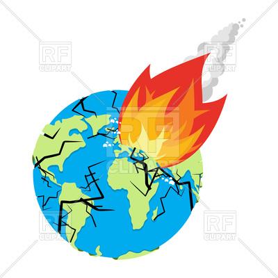 400x400 Meteorite Crashing Earth Vector Image Vector Artwork Of Icons