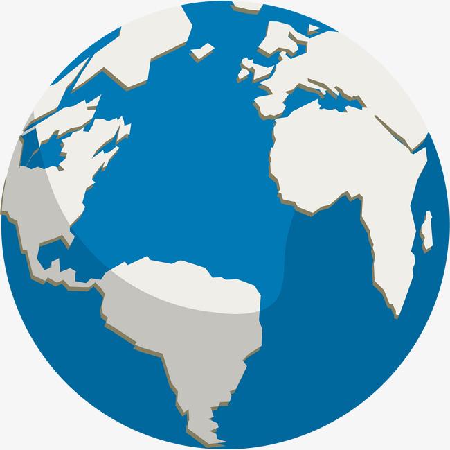 650x649 Simple Cartoon Blue Earth, Cartoon Vector, Blue Vector, Earth