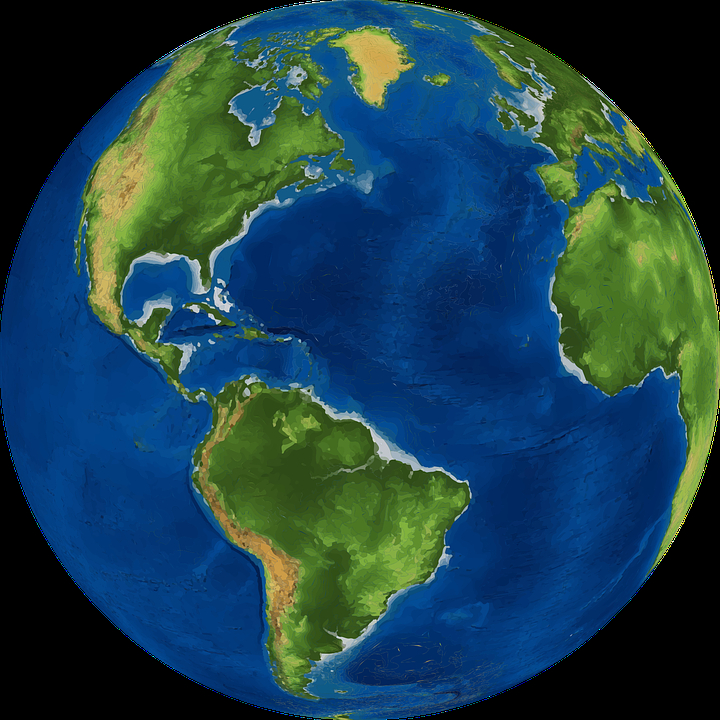720x720 World Globe Map World Earth Planet Free Vector Graphic On Pixabay