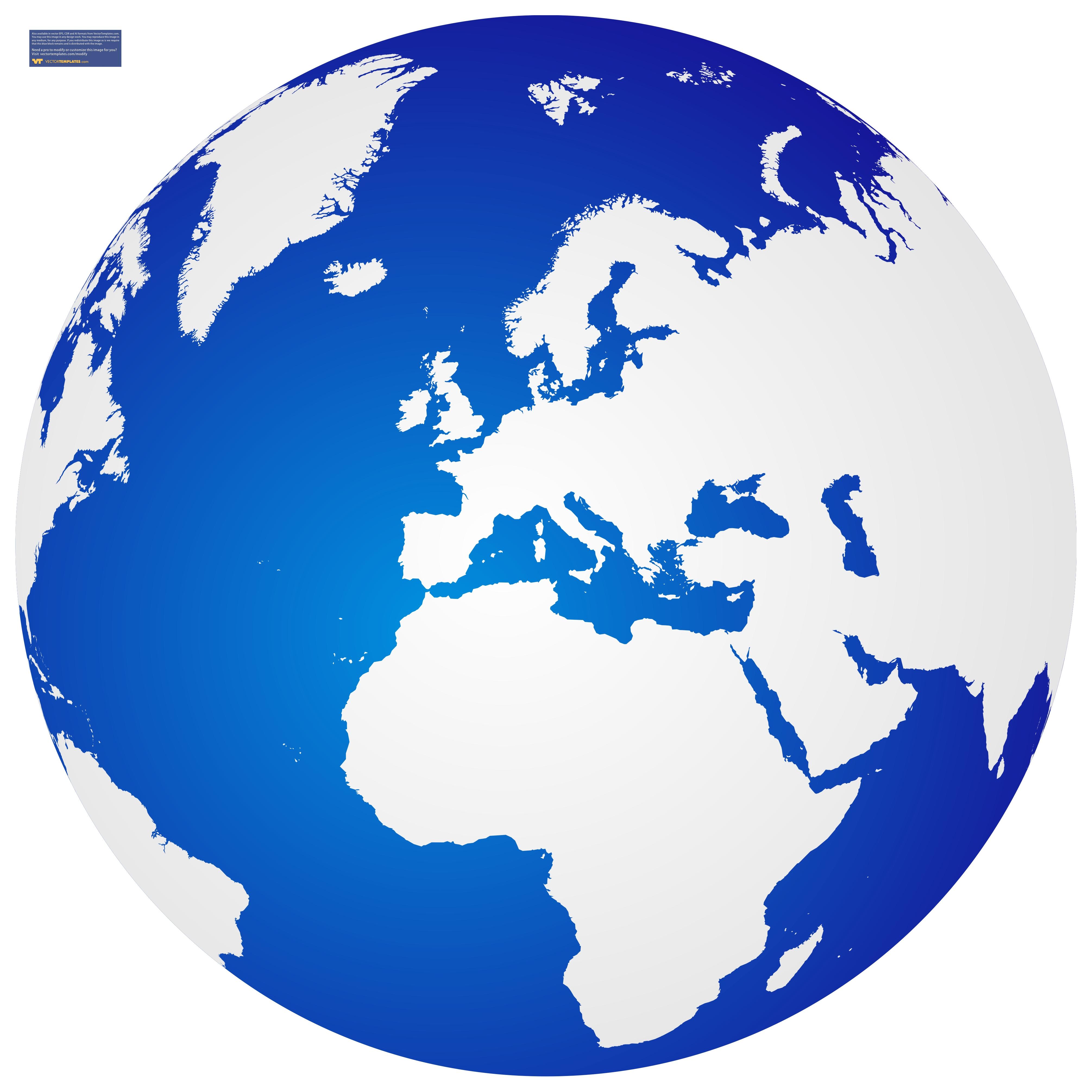 4021x4021 Clipart Globe Vector