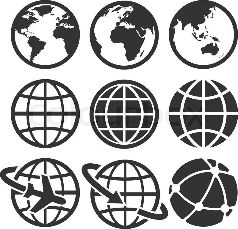 800x771 Earth Vector Icons Set. Credit Nasa Stock Vector Colourbox
