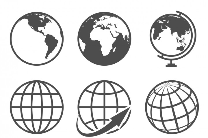 720x479 Globe Earth Vector Icons Set By Microvector