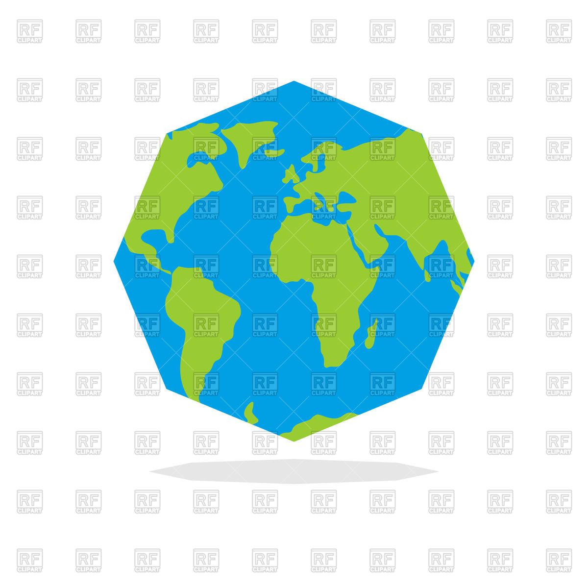 1200x1200 Octagon Earth Vector Image Vector Artwork Of Signs, Symbols