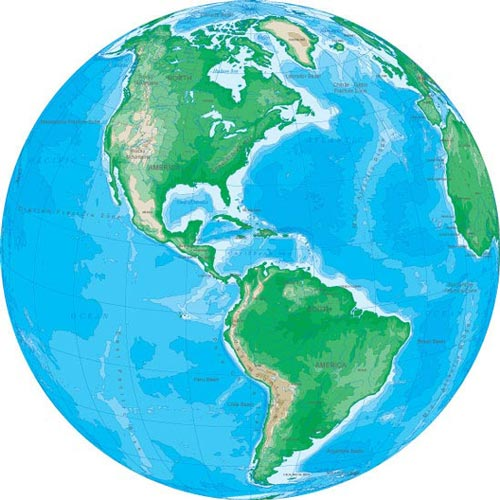 500x500 Different Angles Of Earth Vector