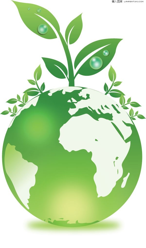600x1016 Green Earth Vector Leafy Plants Graphics Collection My Free