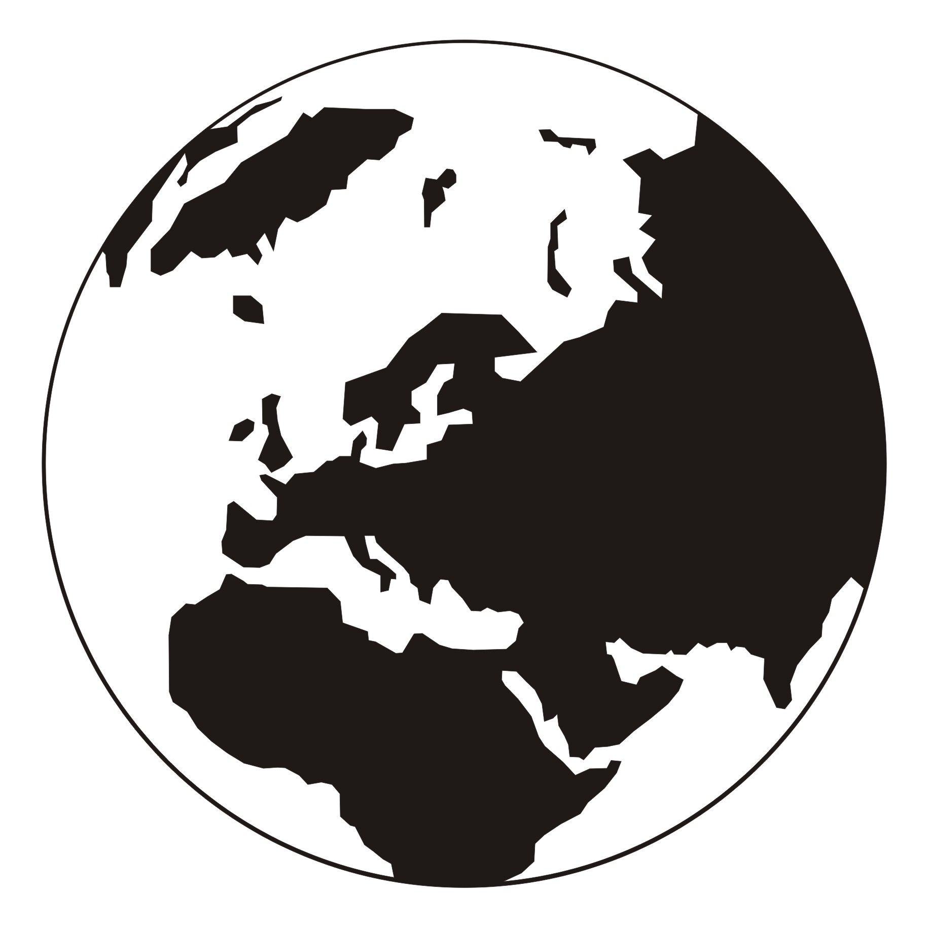 1830x1830 Vector For Free Use Globe Vector