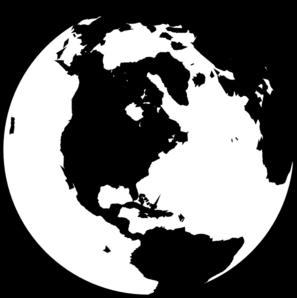 297x298 White And Black Globe Clip Art