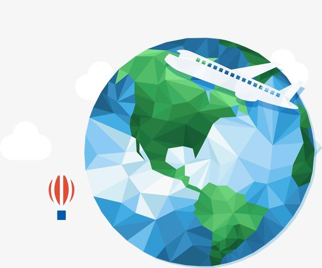 650x542 Creative Earth Vector, Earth Vector, Aircraft, Hot Air Balloon Png