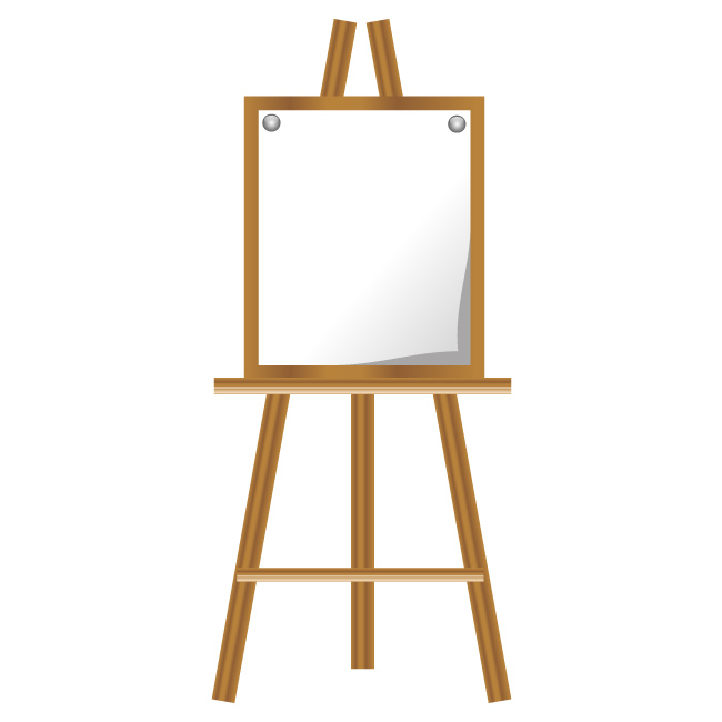 650x650 Easel Easel Vector Icon Material