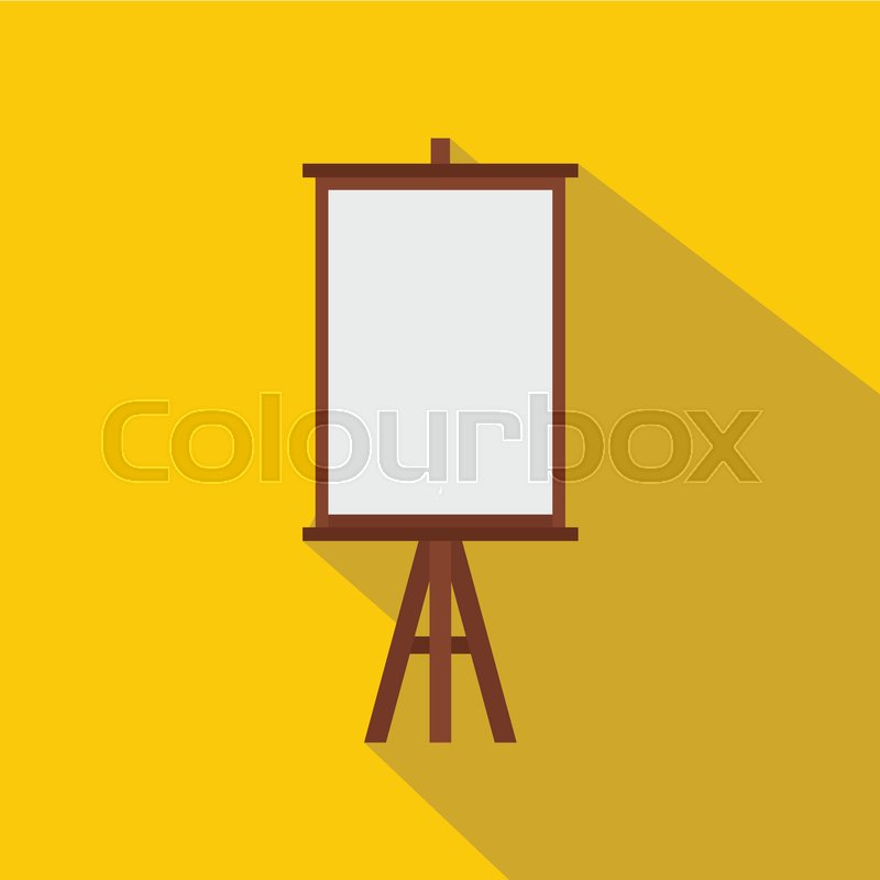 800x800 Easel Icon. Flat Illustration Of Easel Vector Icon For Web Stock