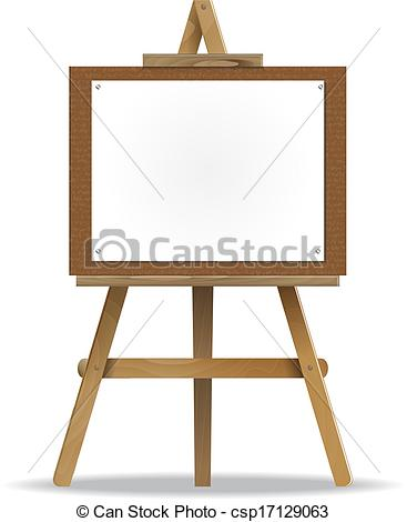 367x470 A White Canvas On An Easel. High Detailed.