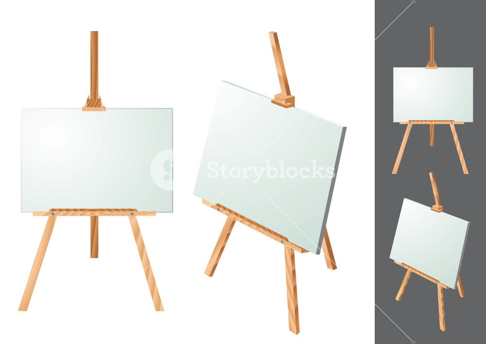1000x709 Easel. Vector. Royalty Free Stock Image