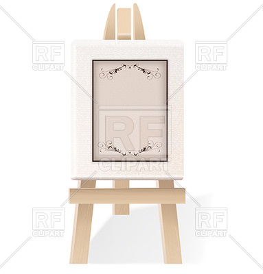 383x400 Floral Vignettes Painted On A Wooden Easel Vector Image Vector