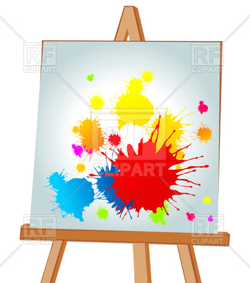 354x400 Multi Coloured Blots On Easel Vector Image Vector Artwork Of