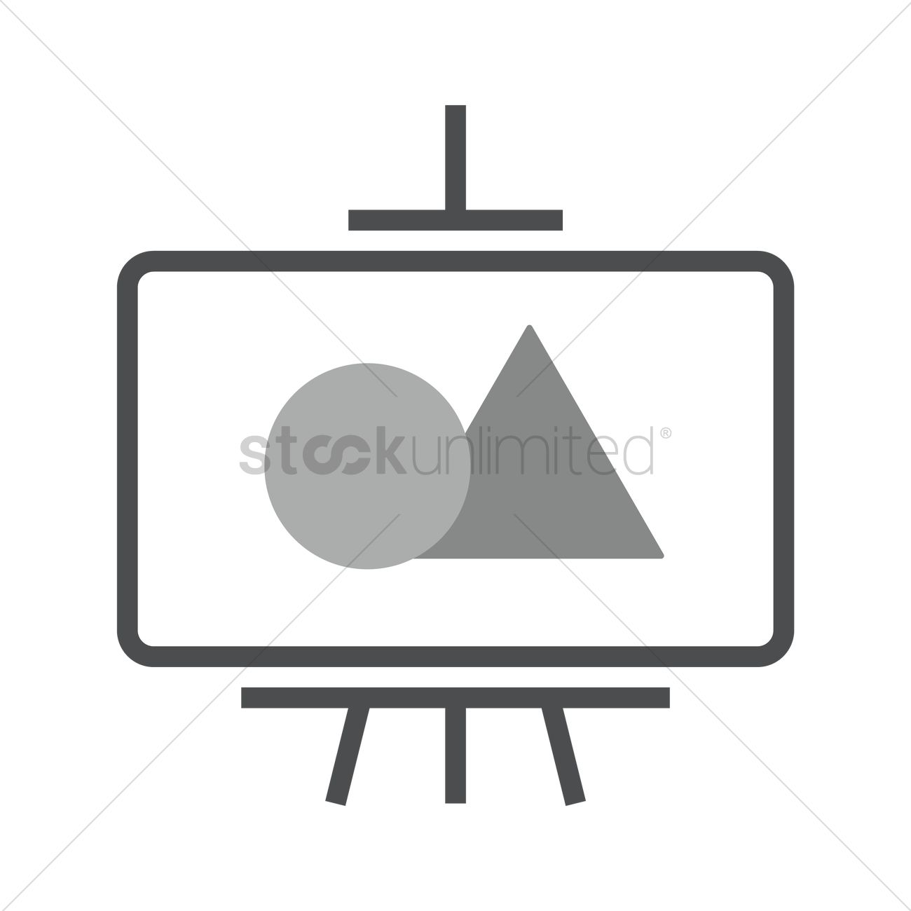 1300x1300 Painting On Canvas And Easel Vector Image