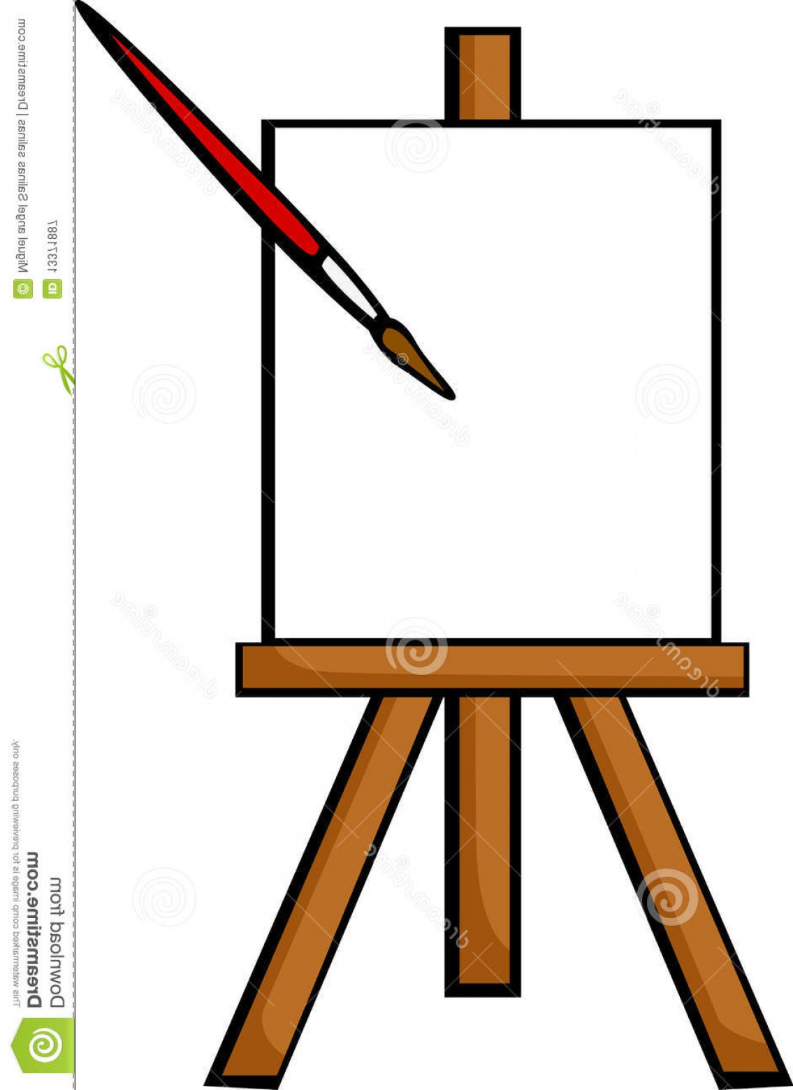 1135x1560 Royalty Free Stock Photography Blank Canvas Easel Vector