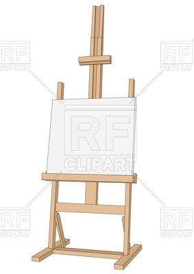 283x400 Wooden Easel Vector Image Vector Artwork Of Objects Arkela