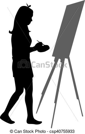 299x470 Artist Painted The Picture On An Easel.