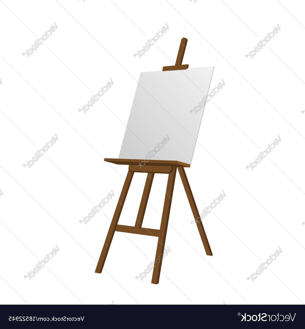 1000x1080 Best Sienna Art Easel Vector Image