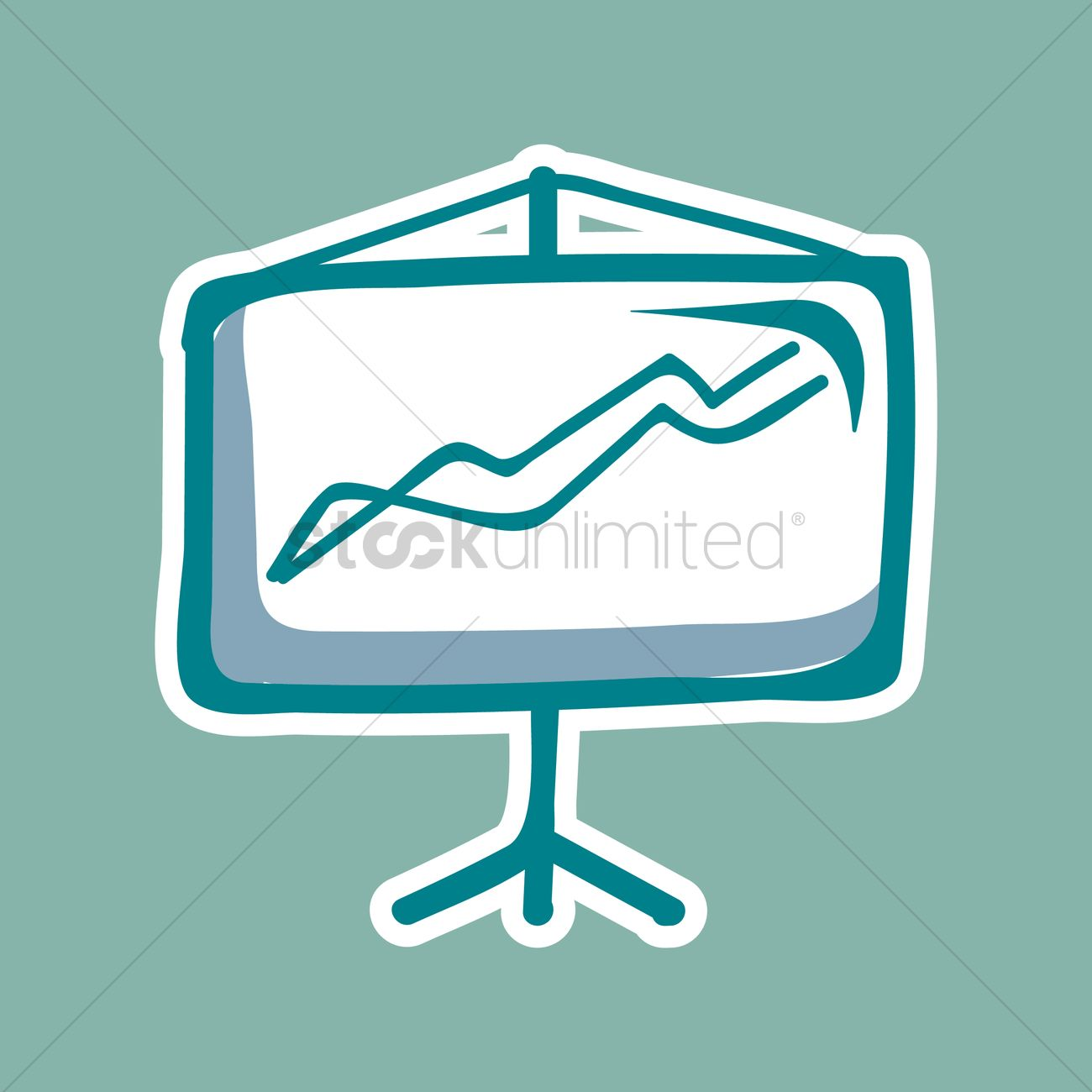 1300x1300 Board With Easel Vector Image