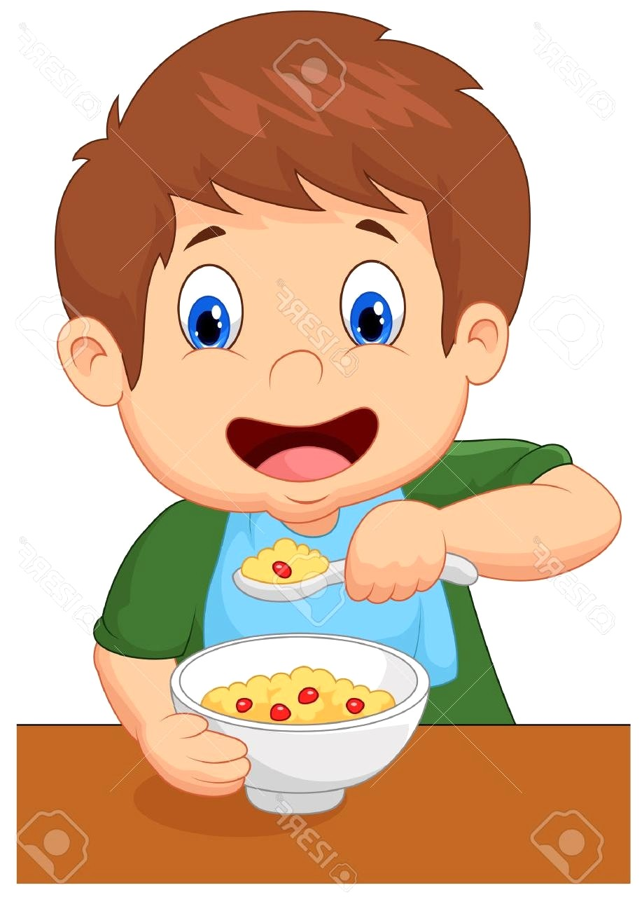 917x1300 Eat Breakfast Clipart 1 G Best 15 Boy Is Having Cereal For Stock