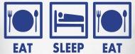 190x77 Eat Sleep Eat Vector Design By Brainclothing Spreadshirt