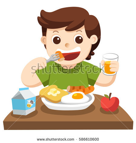 450x470 Collection Of Kids Eating Breakfast Clipart High Quality