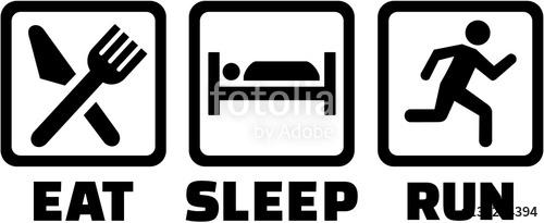 500x205 Icons For Eat Sleep Run Stock Image And Royalty Free Vector Files