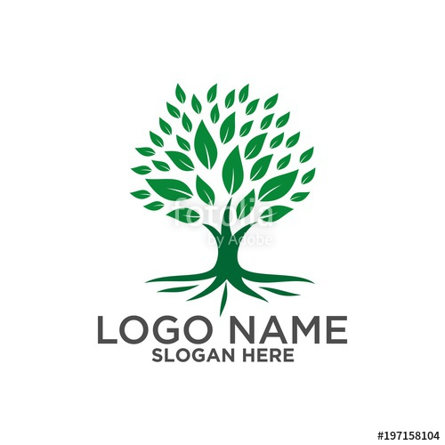 500x500 Tree Logo ,people Logo ,family Logo ,green Eco Logo,vector Logo