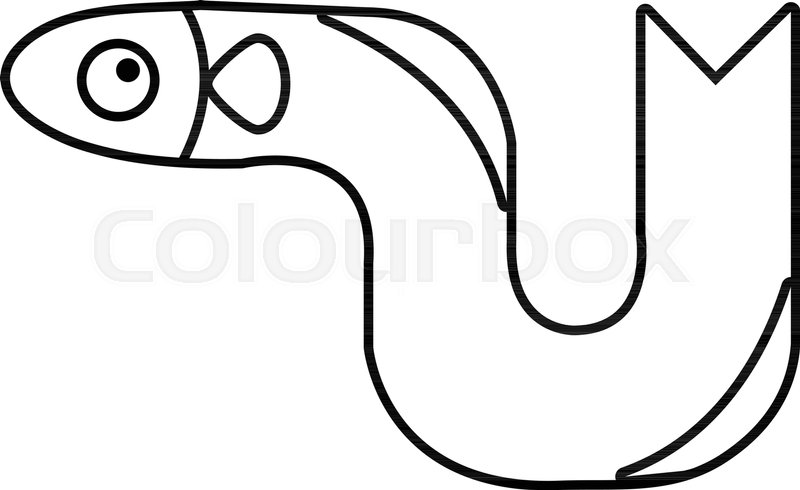 800x490 Eel Icon. Outline Illustration Of Eel Vector Icon For Web Stock