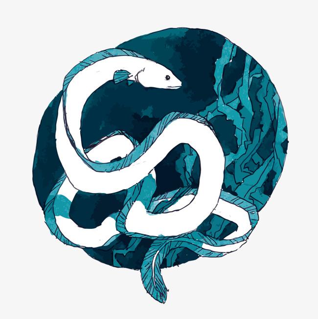 650x651 Vector Eel, Blue, Eel, Ocean Png And Vector For Free Download