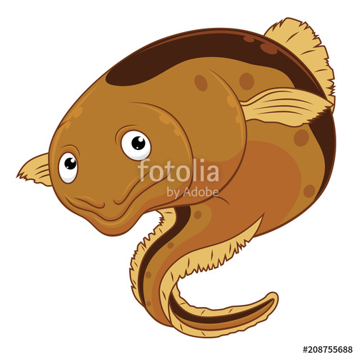 500x500 Cartoon Cheerful Eel Stock Image And Royalty Free Vector Files On
