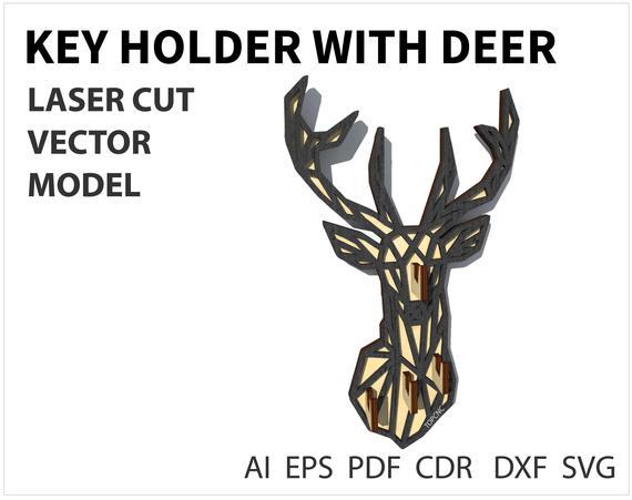 570x451 Wall Key Holder Vector File Wooden Key Organizer Wooden Key Etsy