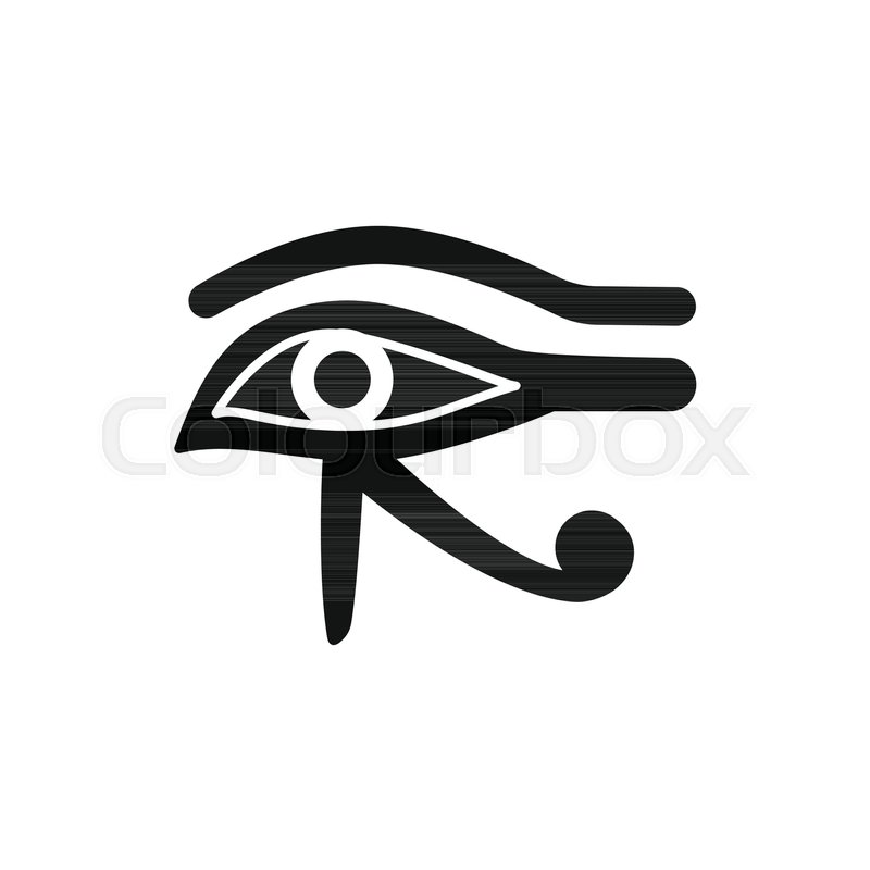 800x800 Egyptian Eye Icon In Silhouette Style. Egypt Horus Eye Object