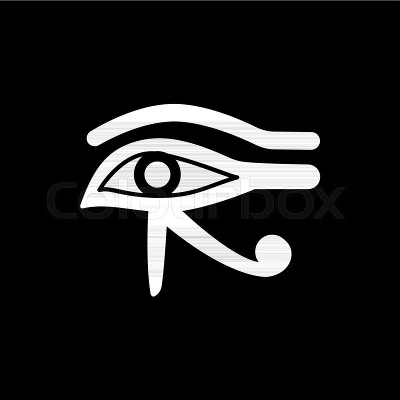 800x800 Egyptian Eye Icon. Silhouette Egyptian Eye Vector Icon For Web