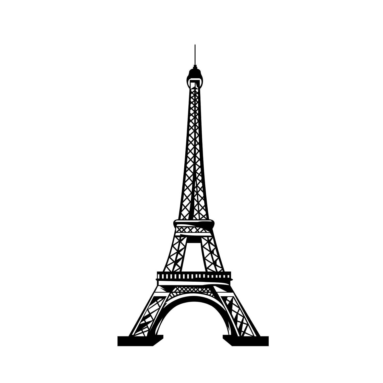 1500x1500 Eiffel Tower Paris Graphics Svg Dxf Eps Png Cdr Ai Pdf Vector Etsy