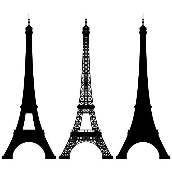 650x650 Eiffel Tower Vector Image Silhouettes Vector