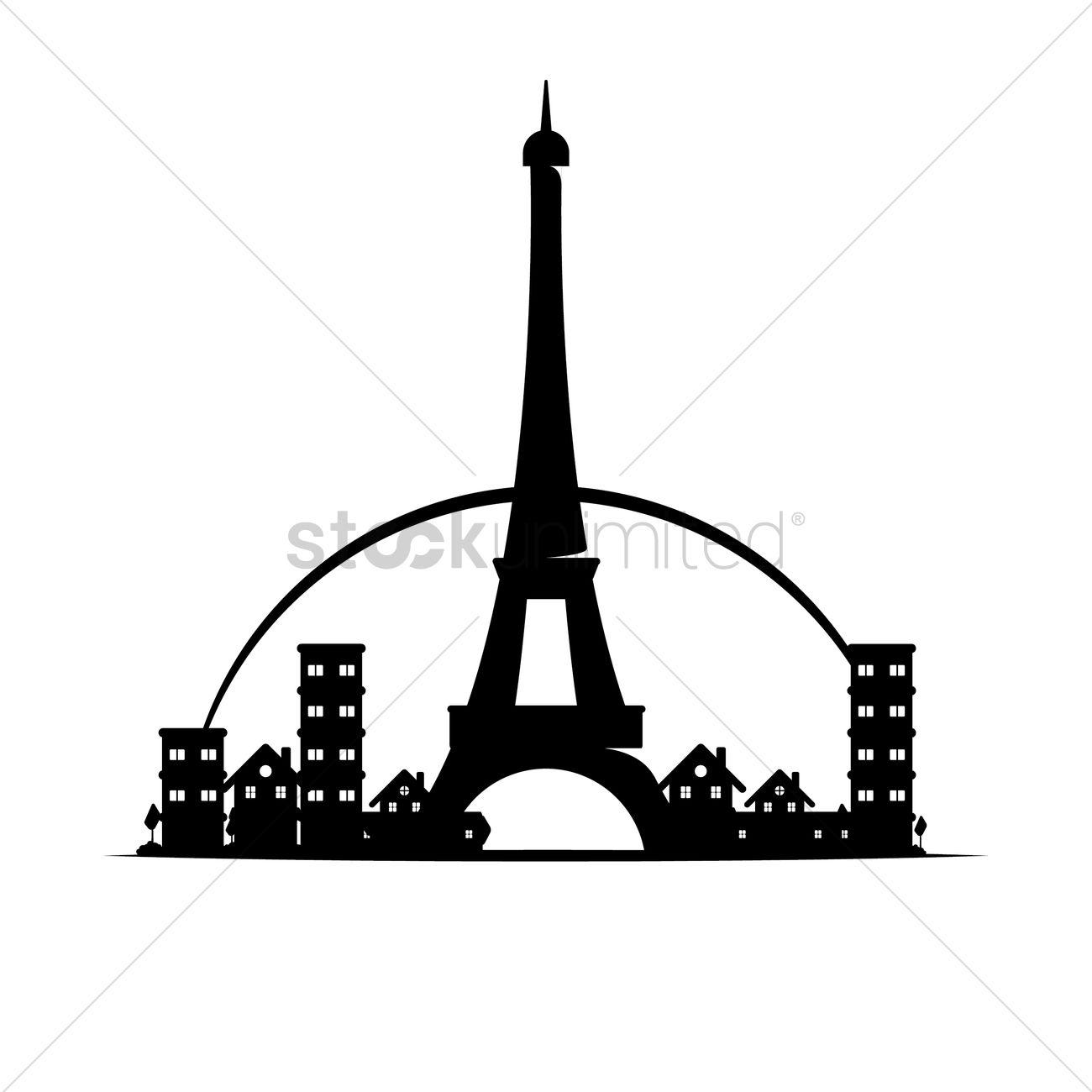 1300x1300 Eiffel Tower Vector Image