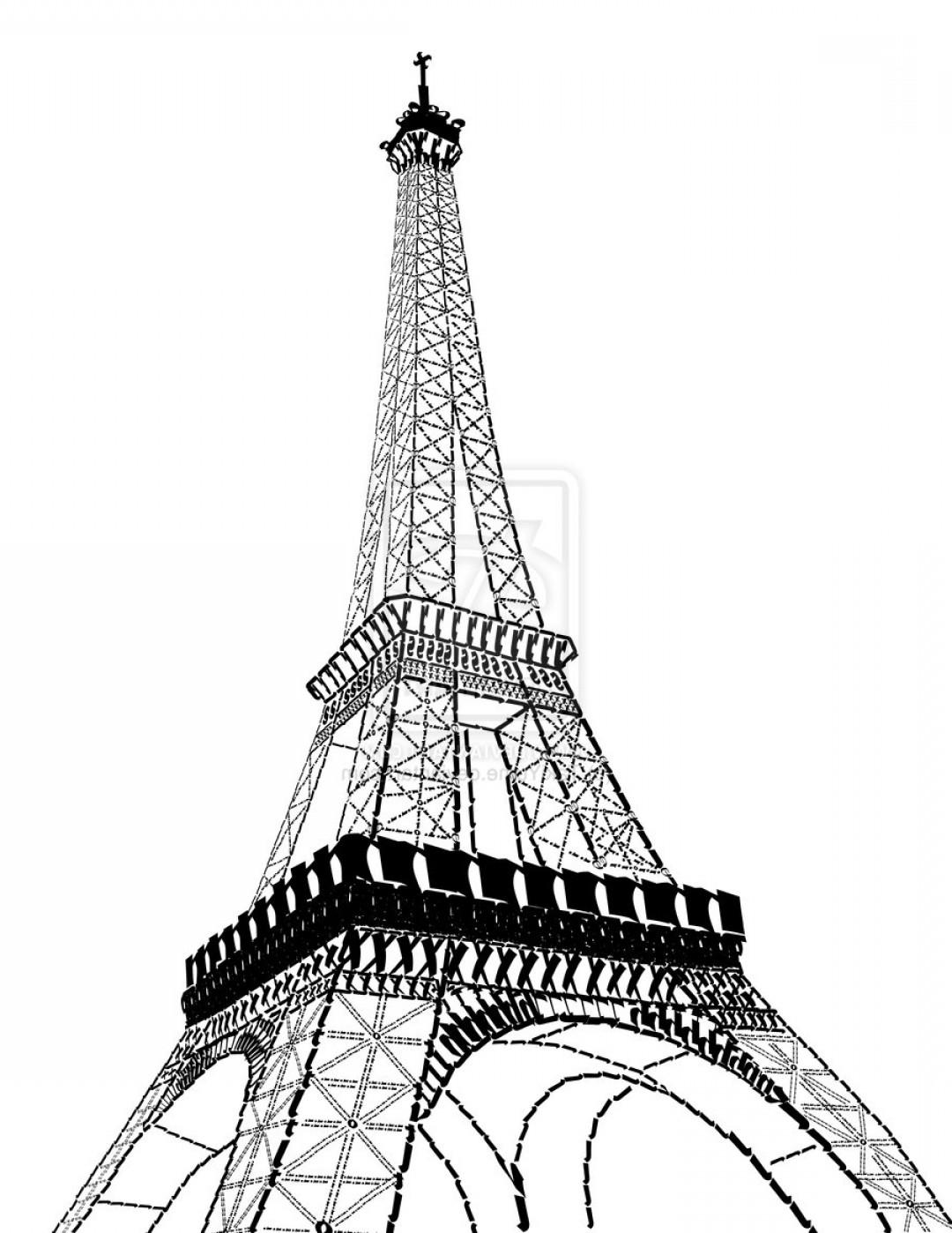 1080x1398 Cartoon Drawing Of Eiffel Tower Eiffel Tower Vector Free Download