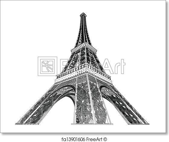 560x470 Free Art Print Of Eiffel Tower Vector Illustration Freeart