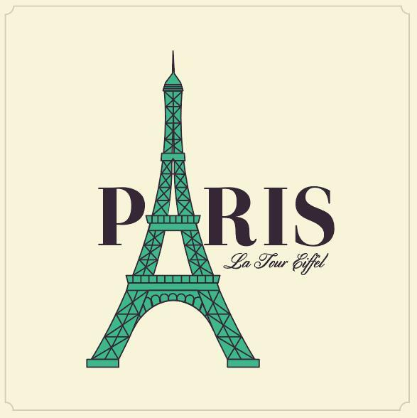 587x588 Paris Eiffel Tower Vector Design 01 Free Download