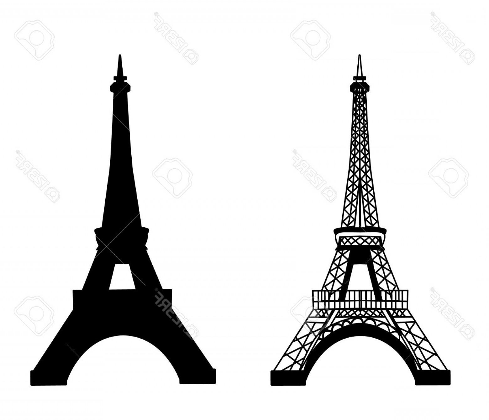 1560x1341 Photostock Vector Eiffel Tower Isolated Vector Illustration Black
