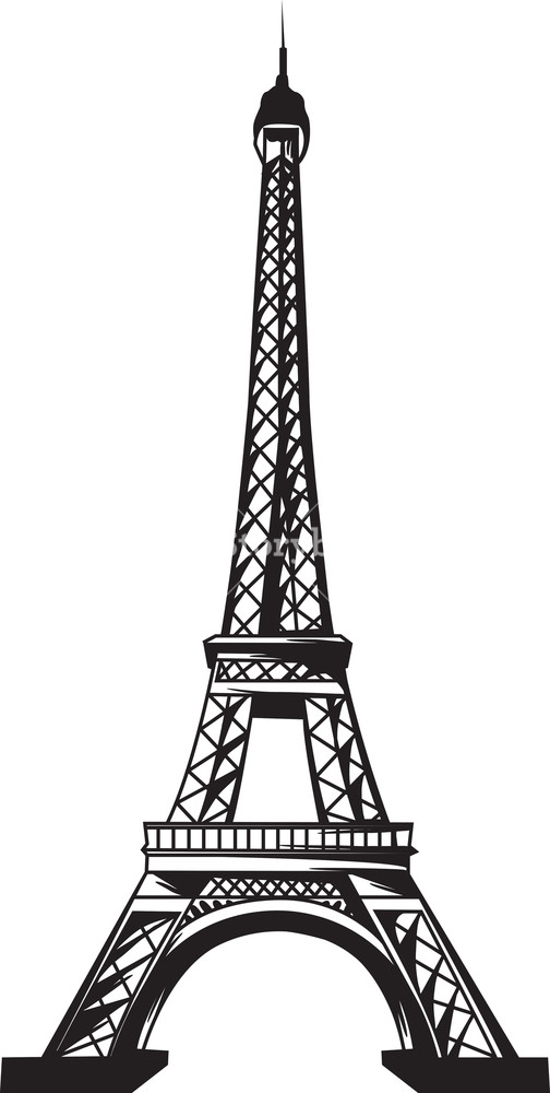 504x1000 Vector Eiffel Tower Royalty Free Stock Image