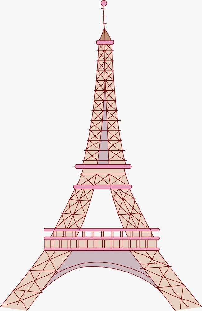 650x1001 Eiffel Tower, Vector, Cartoon, Ai Png And Vector For Free Download